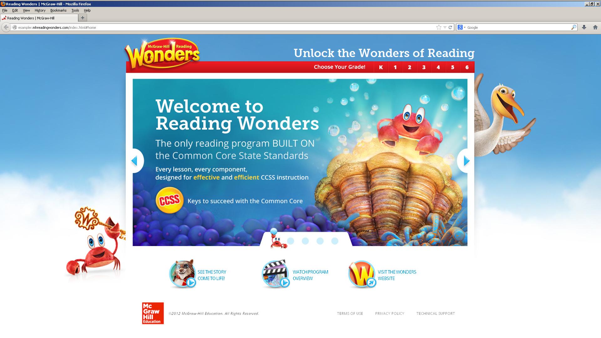 Mcgraw Hill Education Wonders Esampler Website