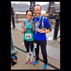 Richmond marathon - Nathan and Amanda Maxwell
