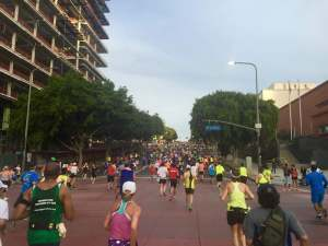 Hills at the LA Marathon