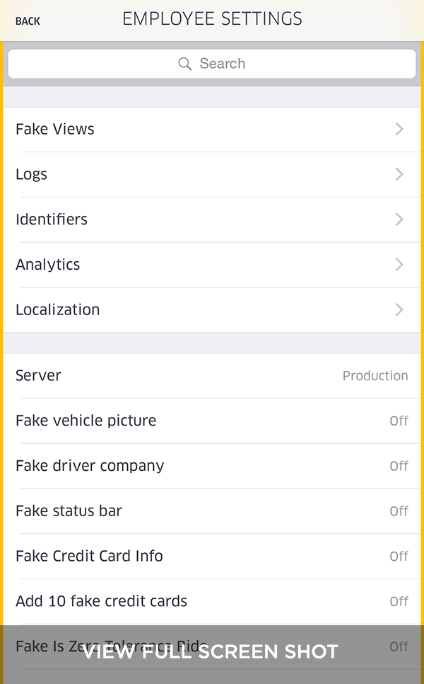 Uber Employee Settings (Thumbnail)