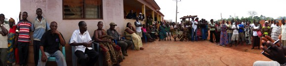 Village meeting, Atwea, Ashanti Region, Ghana