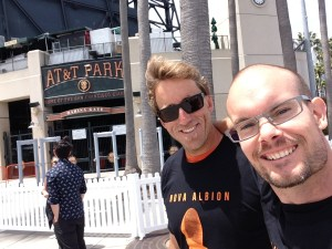 Photograph of my friend Jon and I at the San Francisco Giants Brewfest, May 17, 2014.