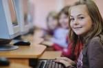 girl at a computer