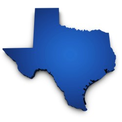 Map Of Texas State 3d Shape