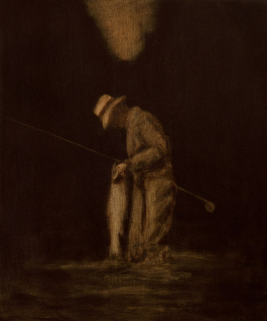 """The Fish, oil and beeswax on canvas, 24\"""" x 20\"""". 1990. Private collection"""