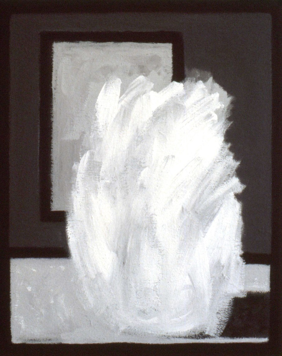 Eruption, acrylic on board, 24 X 20, 1987, private collection