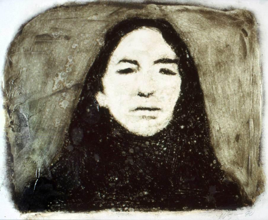 Portrait AB, oil on paper, 10 X 12, 1991
