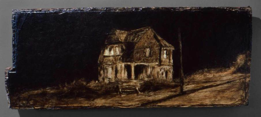 Seattle, oil on wood, 7 X 14, 1991, private collection