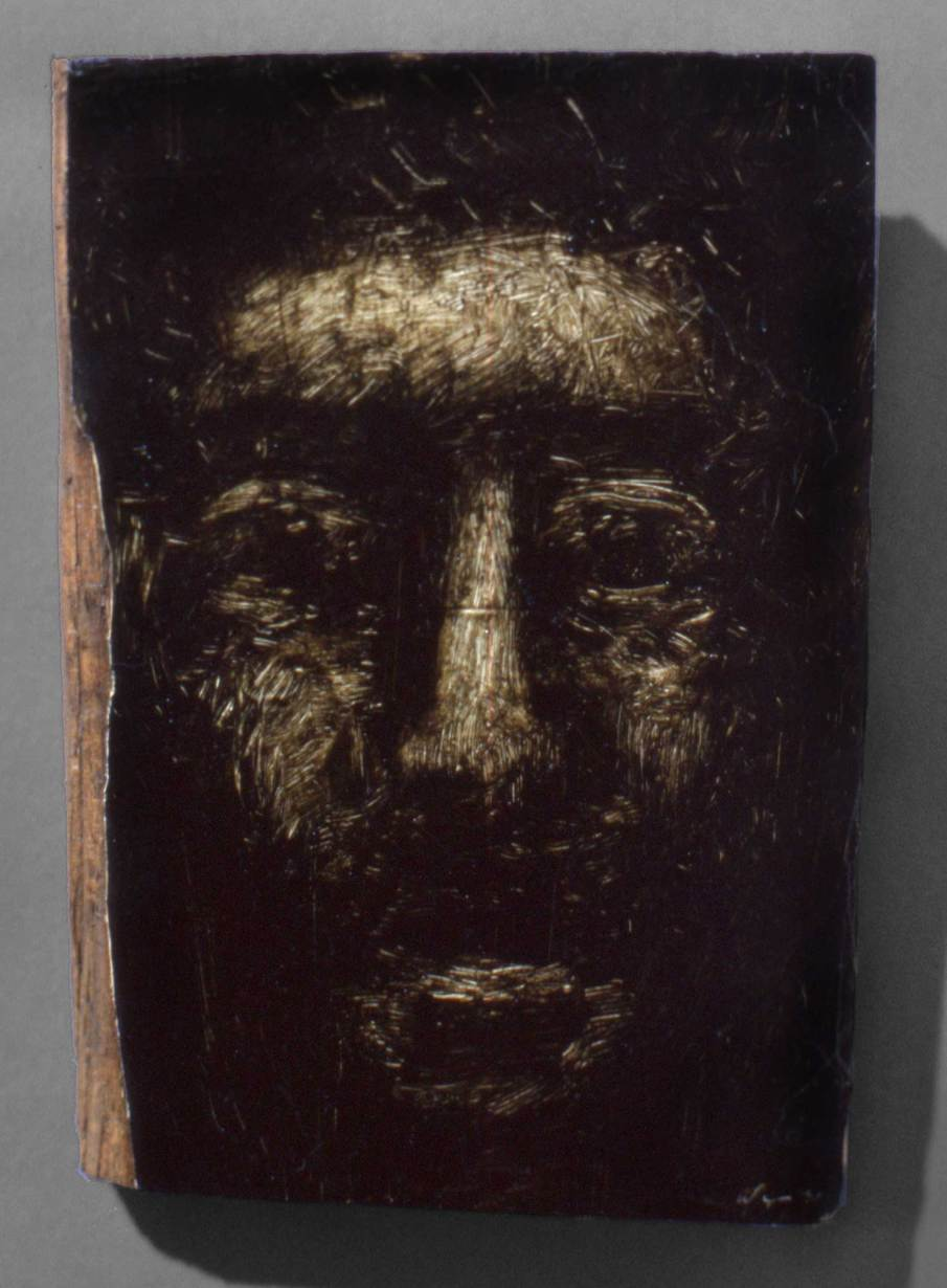 Face No. 4, oil on wood, 7 X 5, 1991