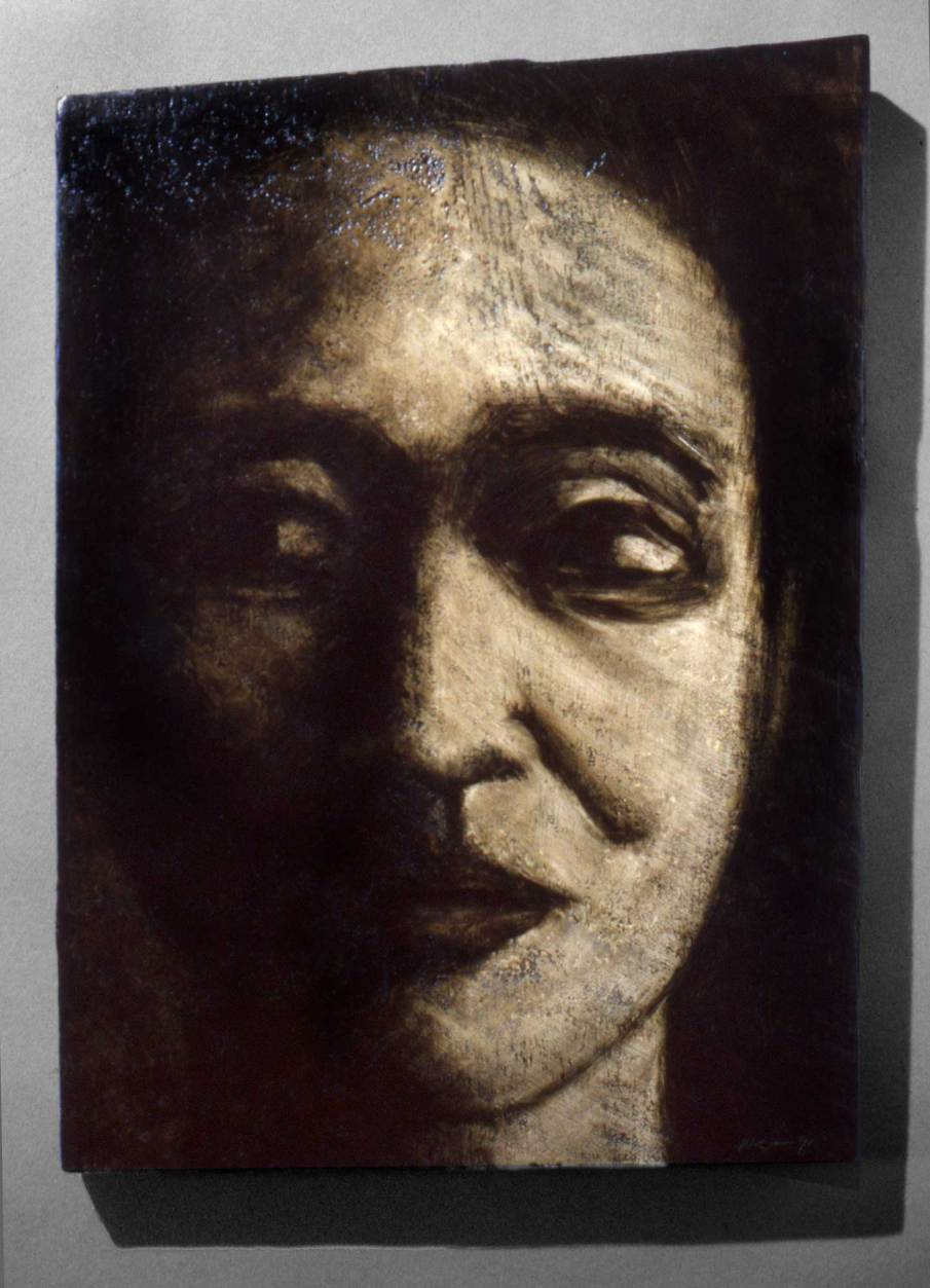 Face No. 3, oil on wood, 14 X 10, 1991, private collection