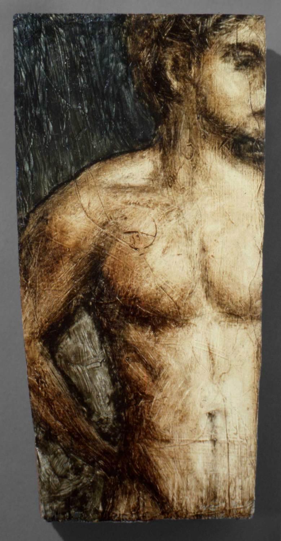 Figure, oil on wood, 11 X 5,5, 1991