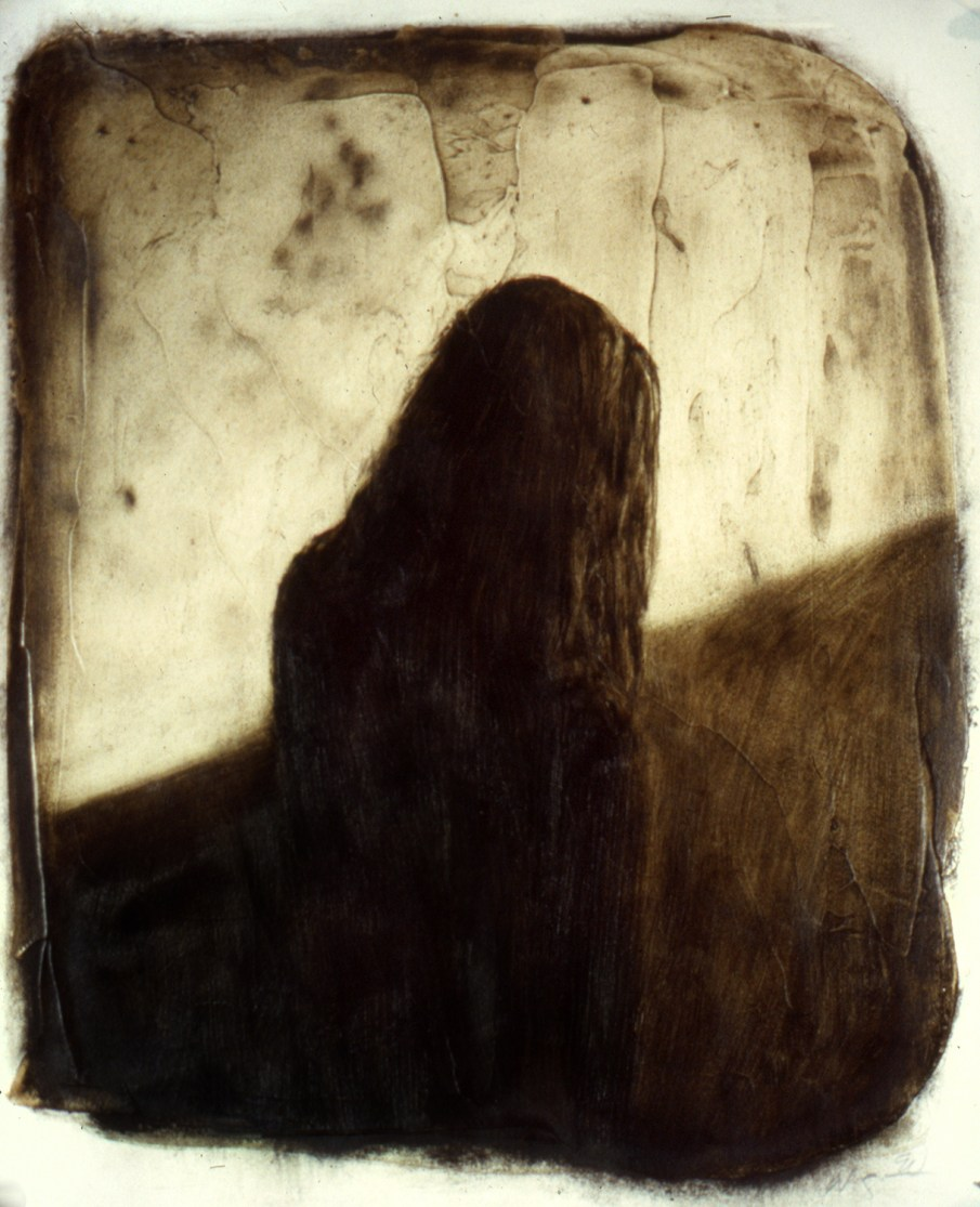 Woman in a Hallway, oil on paper, 14 X 12, 1991, private collection