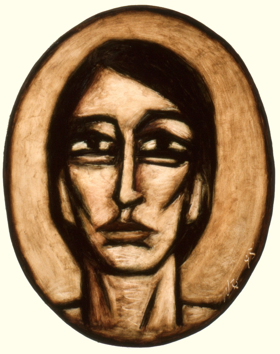 Face No. 1.12, oil on paper, 30 X 22, 1993