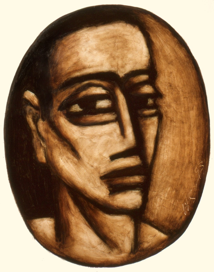 Face No. 1.6, oil on paper, 30 x 22, 1993, private collection