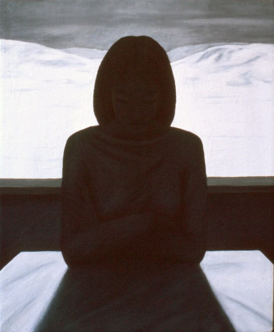 Picture Window, acrylic on canvas, 24 X 20, 1988, private collection