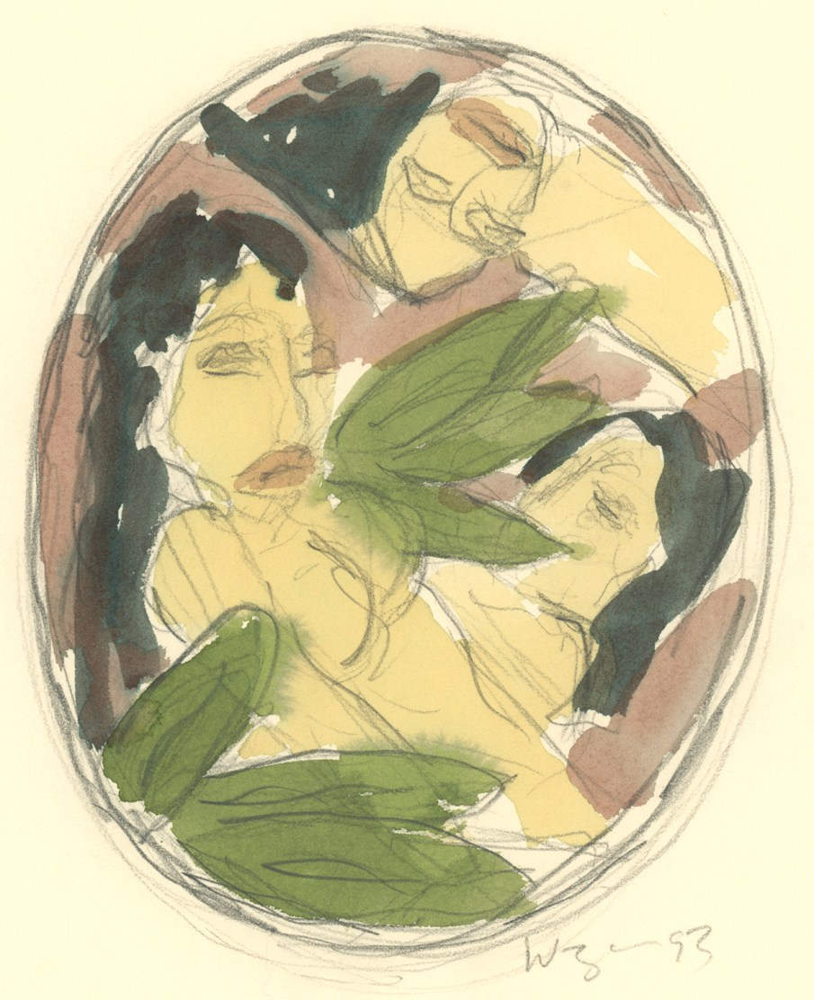 The Garden No. 9, watercolor on paper, 9 X 6, 1993