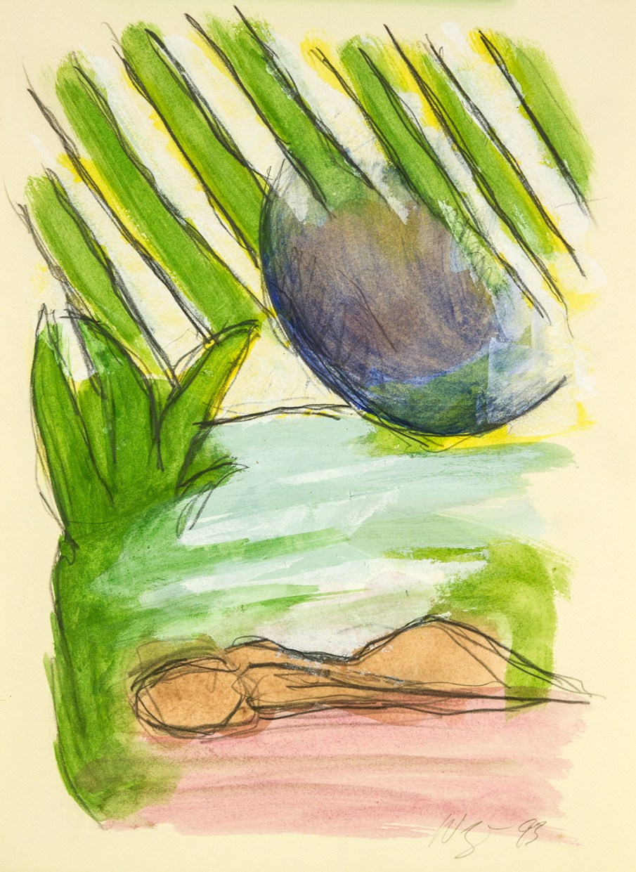 The Garden No. 2, watercolor on paper, 13 X 10, 1993
