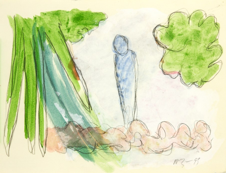 The Garden No. 6, watercolor on paper, 10 X 13, 1993