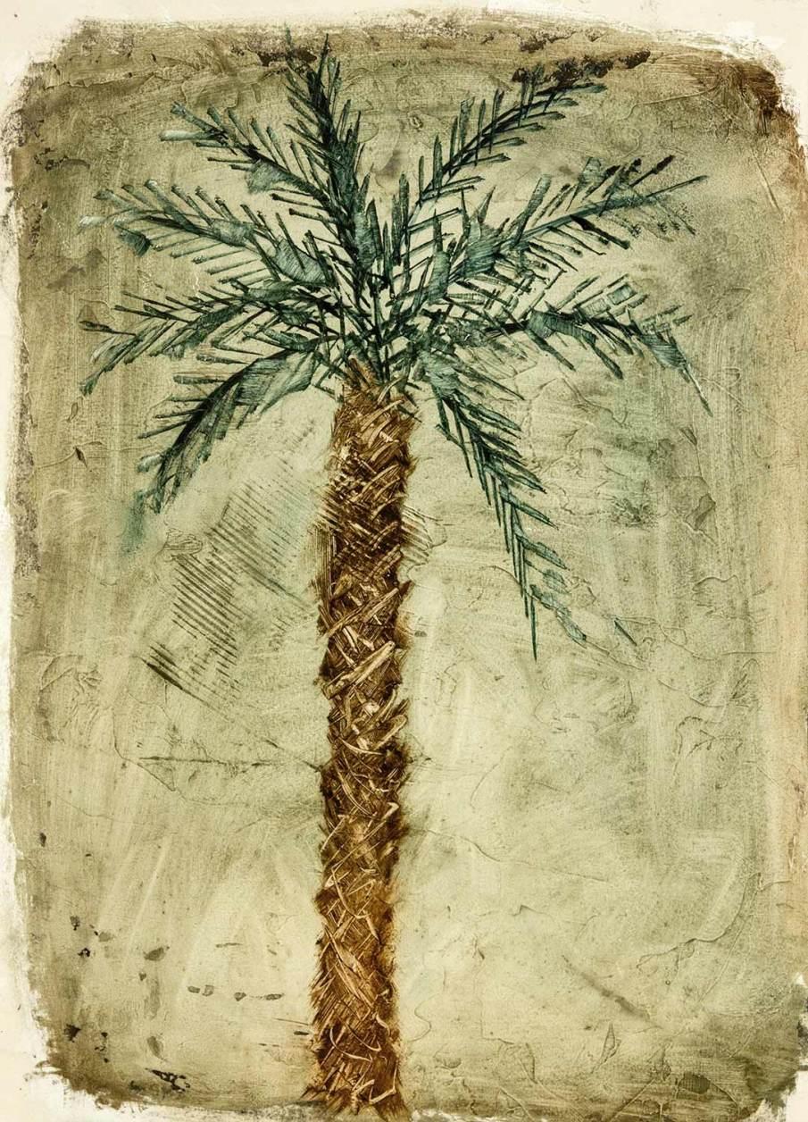 Palm Tree, oil on paper, 16 X 11, 1991