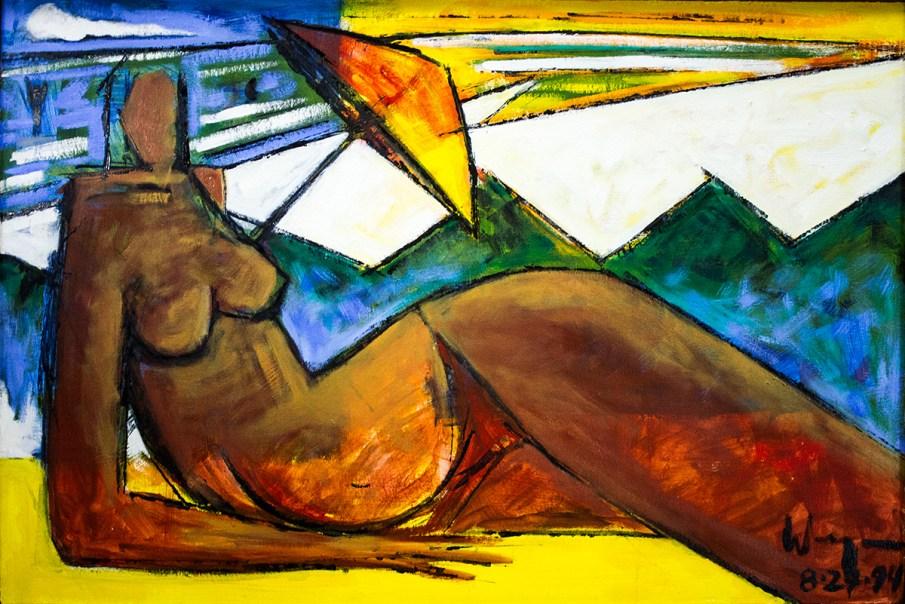 Oleron No. 1, oil on canvas, 24 X 36, 1994