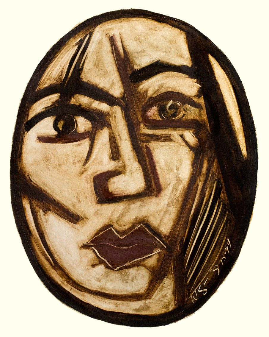 Face No. 1.13, oil on paper, 30 X 22, 1994