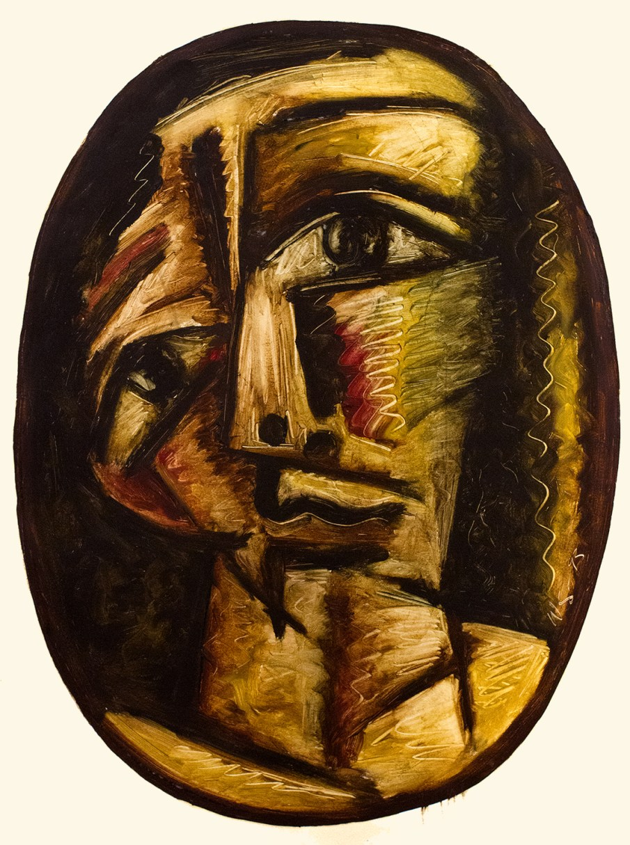 Face No. 1.5, oil on paper, 30 x 22, 1993