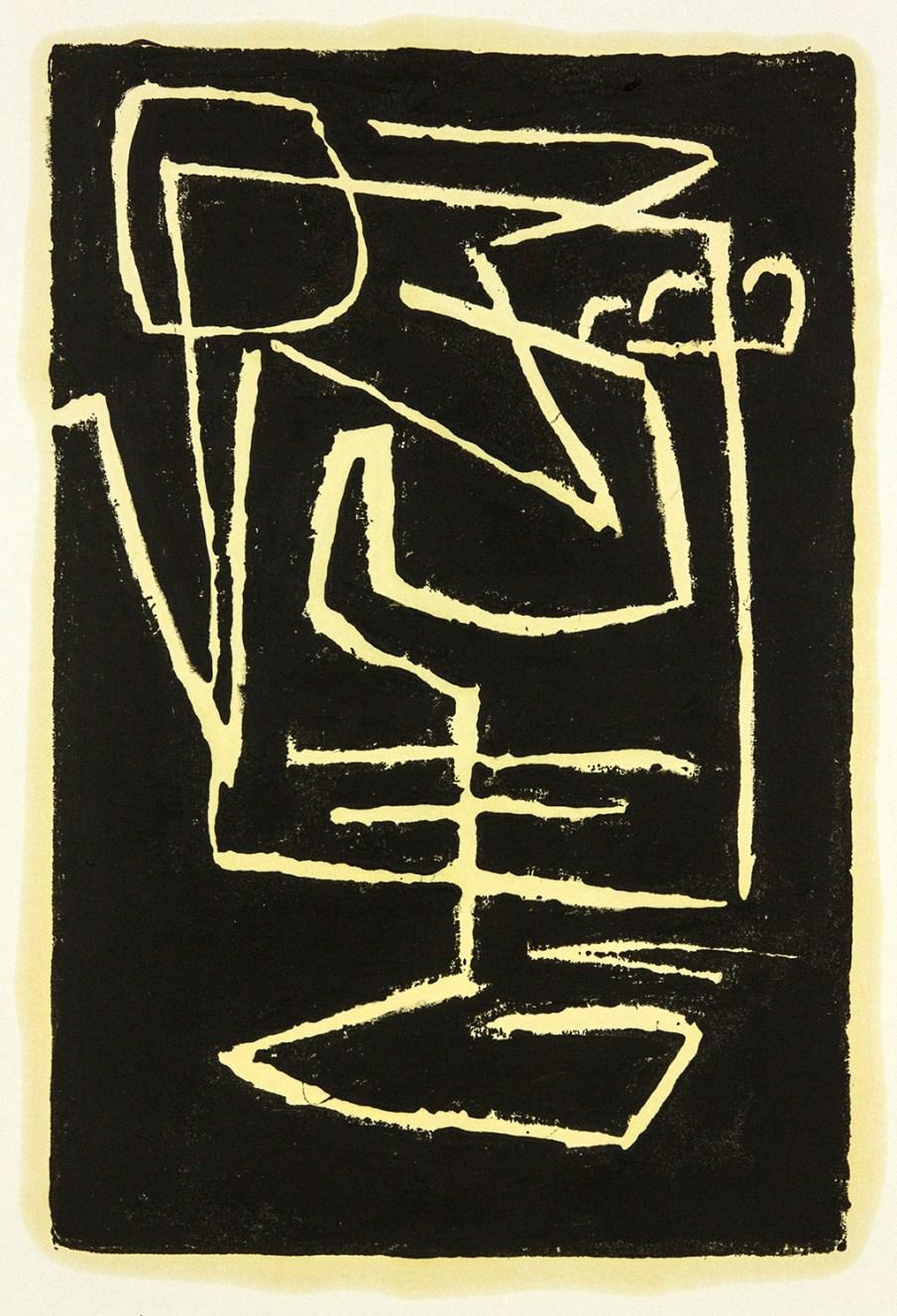 Still Life, monoprint, ink on paper, 17 X 14, 2020