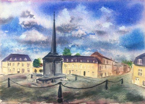 J52 Watercolor in Arras J4