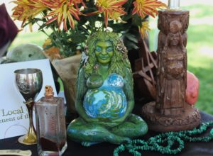 Pagan Altar featuring Goddess Statue