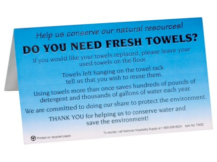 Fresh Towel Sign