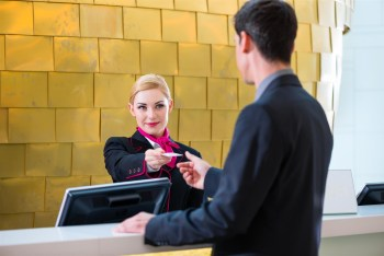 concierge giving guest key