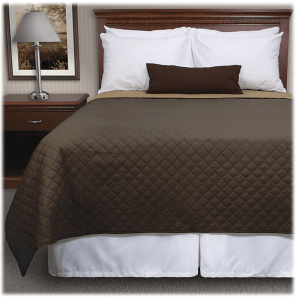 Walker's square reversible pinsonic quilted coverlets