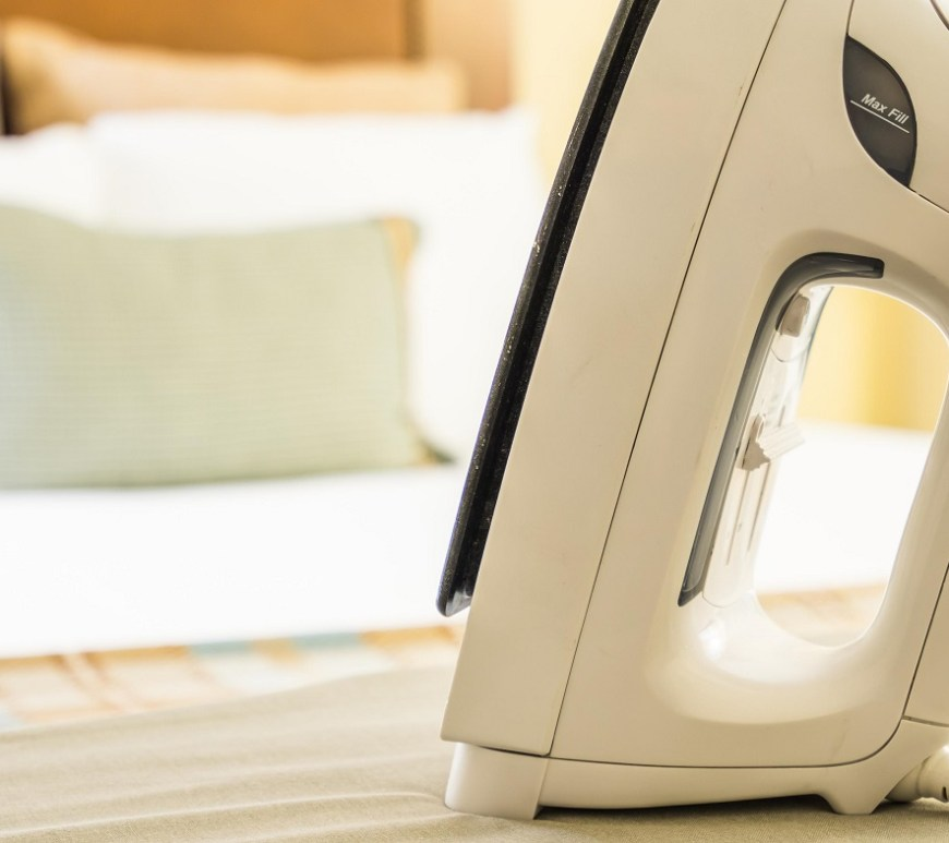 hotel iron and ironing board