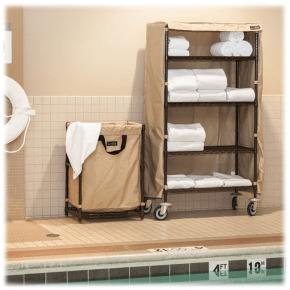 hotel towel shelves