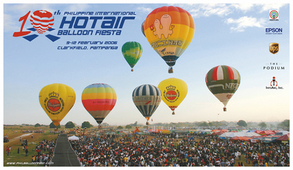 Philippine International Hot Air Balloon Fiesta Work: 9th & 10th Logo, Web, Event Materials, Photos, Exhibit, Sales Kit, Souvenirs and Production Supervision