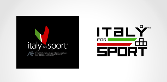 for Italy's National Institute for Foreign Trade under DBA/Arkenù Show at Moscow - Torino 2006 per Sochi 2014 Logo & Corporate Materials Design