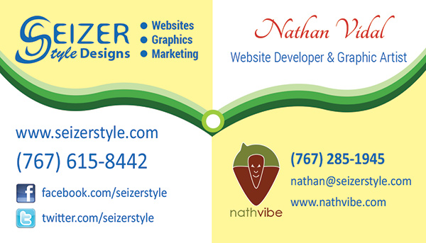 SeizerStyle Designs Business Card - Nathan