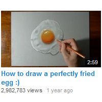 Youtube How To Draw Fried Egg
