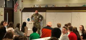 Veteran Talking to Students