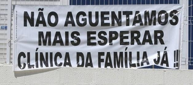 Moradores cobram abertura da Clínica da Família do Andaraí