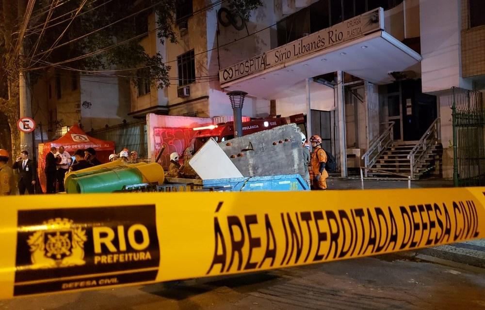 Uma pessoa morre e outra fica ferida em desabamento de laje de hospital no Maracanã