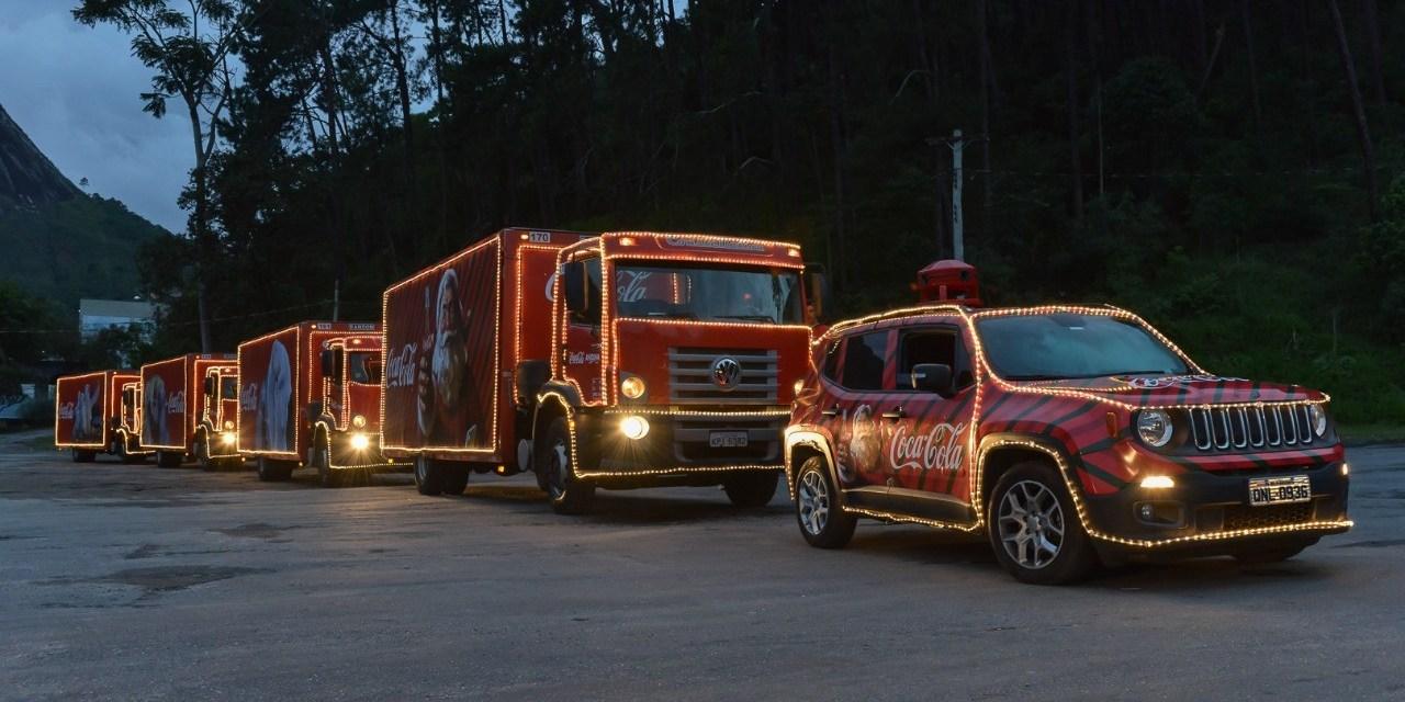 Shopping Tijuca recebe a Magia da Caravana Coca-Cola