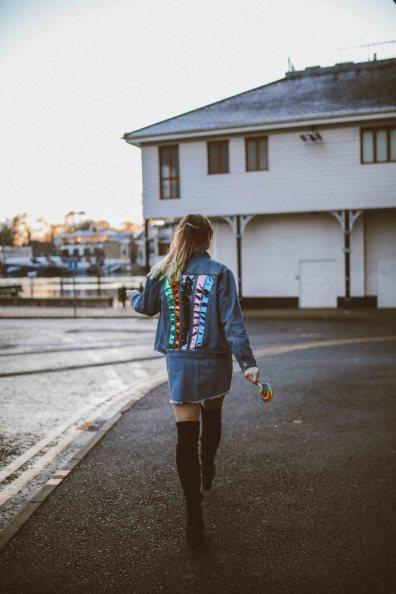 nasty gal rainbow denim skirt jacket-22