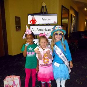 All American Princesses Chantel (MD), Corinne (IL) & Alyssa (CA) at Birthday Themed Rehearsal