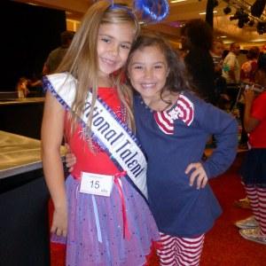 Princess Team Ambition California pals Alyssa deBoisblanc & Kaysee French at Patriotic Rehearsal