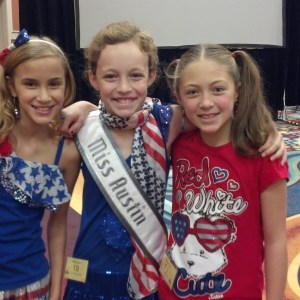 Jr. Pre Teen Sienna Larson from nevada with some new friends at rehersal