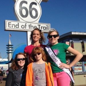 Santa Monica pier with family, Adalynn Colton from KS