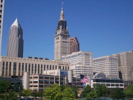 Downtown Cleveland Ohio skyline