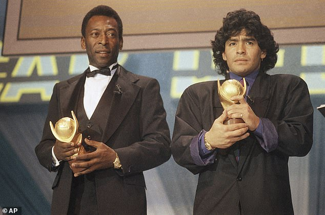 When it comes to the all-time supremacy there are only two true contenders: Diego Maradona (right) and Pele (left)