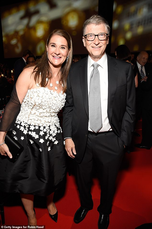 Melinda Gates herself, pictured, was an employee at Microsoft, having been hired as a product manager in 1987, when the billionaire first asked her out months after flirting with her